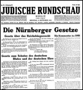 Judische Rundschau the Zionist paper carried the slogan 'Wear the Yellow Start with Pride'