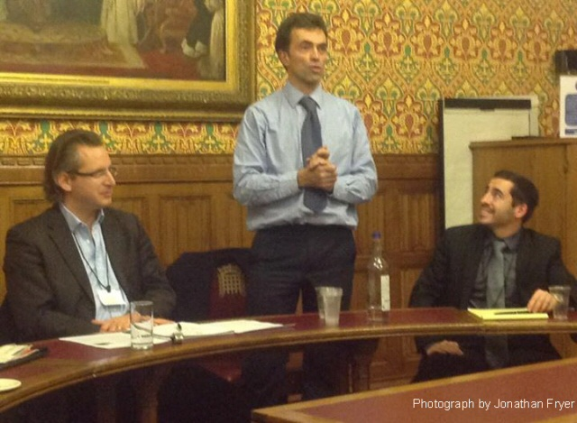 Shai Masot briefing on the situation in Israel at the 2015 Liberal Democrat Friends of Israel AGM