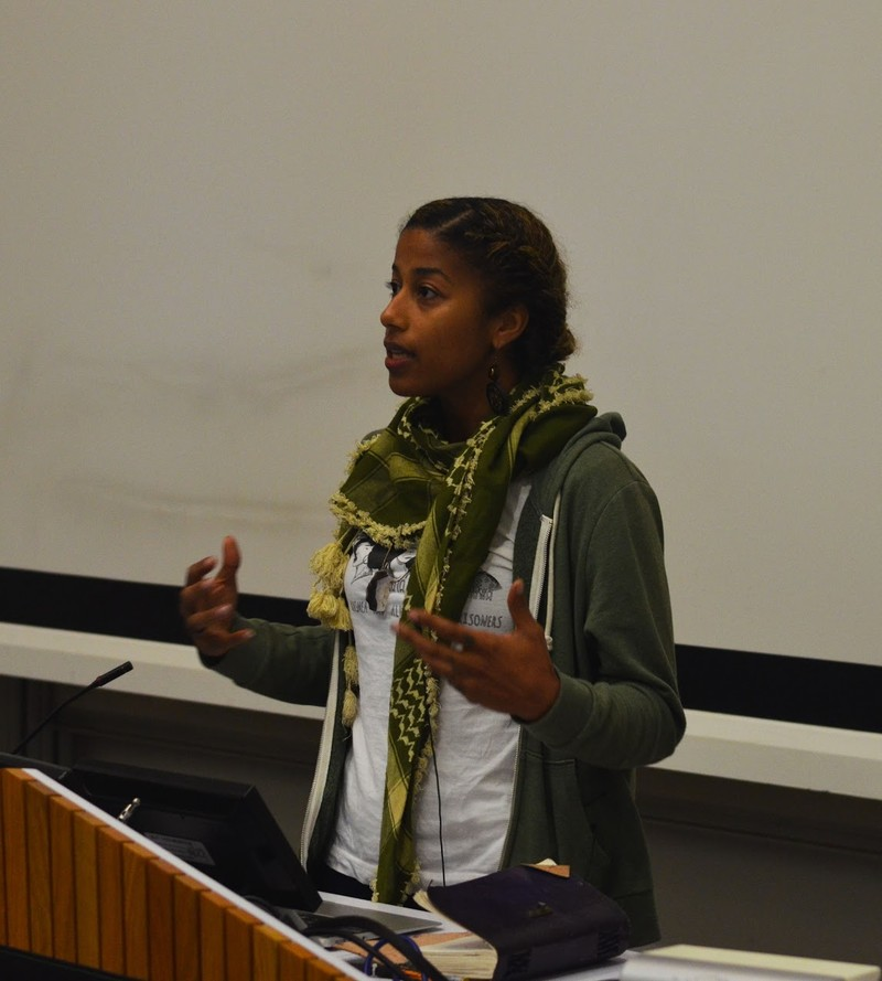 More than 170 people heard from US spoken word artist and organiser Aja Monet at an Israeli Apartheid Week event at the University of Sussex.