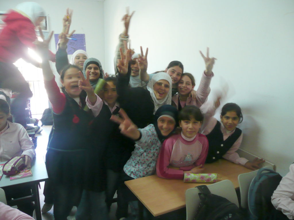 Future School for Girls pupils Beit Hanina East Jerusalem