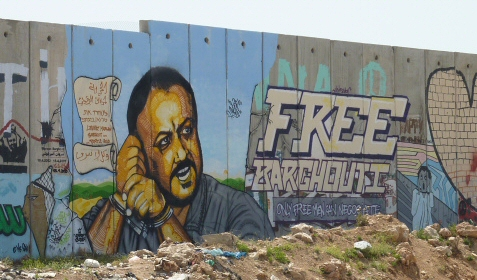 Even the Apartheid Wall says Free Marwan Barghouti