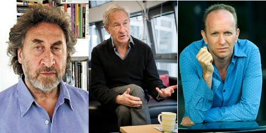 Howard Jacobson, Simon Schama and Simon Sebag Montefiore