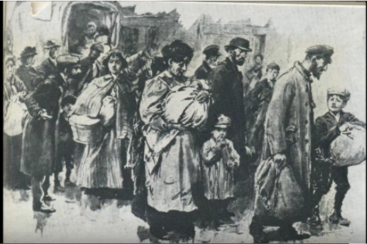 Jews arriving in the East End at the start of the 20th century