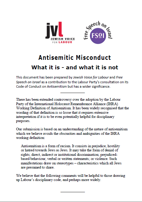 Antisemitic misconduct page one image