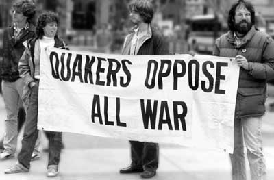 Quakers oppose all war