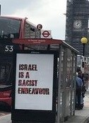 Poster on London bus stop