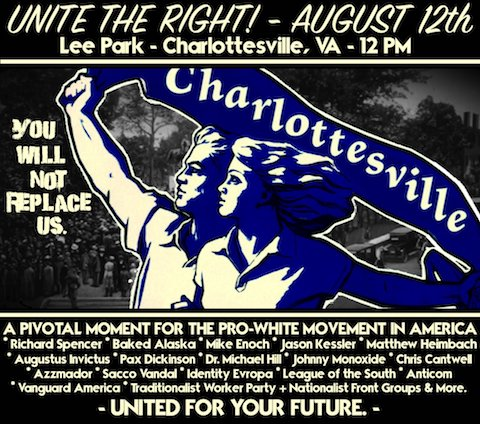 Fascist imagery on Unite the Right poster